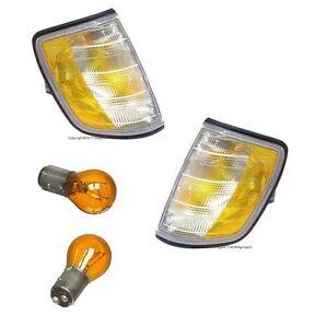 For Mercedes w124 e320 e420 e500 2x Turn Signal Light Set Front Blinker OEM New