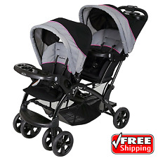 Baby Trend Sit N Stand Double Stroller Infant Carriage Buggy Millennium Pink