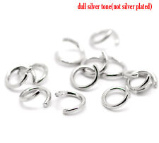 """Silver Tone Open Jump Rings 7mm(1/4""""), pack of 500 SP0289"""