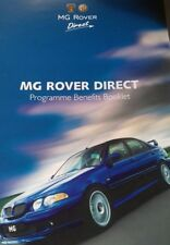 2003 MG Rover Direct Programme Benefits Booklet.