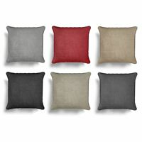"Chenille Plain Cushion Cover Luxury Plain Dyed Cushion Covers 18"" x 18"""