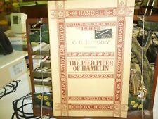 Music. The Pied Piper of Hamlin. Novello's Original Octavo.