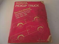 SHOP MANUAL TOYOTA TRUCK SERVICE REPAIR PICKUP 1978-82 ROBERT BENTLEY DIESEL +++