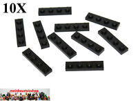 10X Lego® 3710 Platte Plate 1X4 Schwarz Black Neu