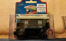 NEW NW BRAKEVAN / THOMAS & FRIENDS WOODEN TRAIN / 1999 RARE BROWN LABEL 99091