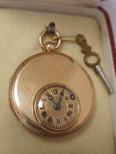 GOLD  18K / 750  Halb - Savonnette Taschenuhr um 1820/1840  läuft RARITÄT !