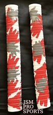 1 X New Balance TC WHITE/Red CAMO Cricket Bat Grip - Twin Texture Combo