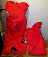 2 PAIR WOOLRICH ULTREX NYLON SNOW SKI PANTS LARGE , RED, VINTAGE N0S (stk sp-2)