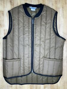 Vintage Sear Work Leisure Vest Tall Large Brown Full Zip Outdoor  Made In USA