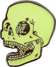 3980 Happy Laughing Skull Skeleton Halloween Punk Horror Enamel Pin Lapel GLOWS