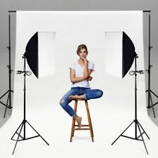 Set of 2 Lighting Softbox Stand Photography Photo Equipment Light Kit