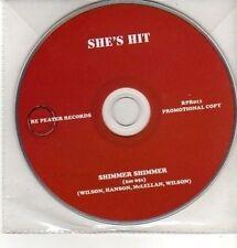 (CQ255) She's Hit, Shimmer Shimmer - 2011 DJ CD
