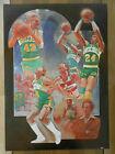 Seattle Supersonics 1979 Finals Washington Bullets art poster Richard MacDonald