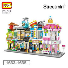 LOZ City Street Profumeria Flower Shop Cinema DIY Mini Blocks Building Toy