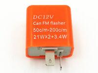 DC 12V 2 Pin Motorbike LED Turn Signal Blinker Indicator Flasher Relay Custom