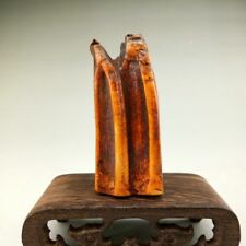 Japan fossilized hippo tooth carved as a Shogun seal - Edo Period 18th Century