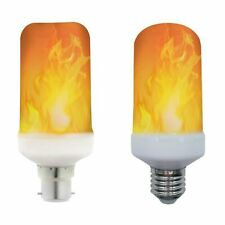LED Flame Effect Light Bulb 5W B22 E27 Ultra Warm 1600K LyvEco xmas fire new