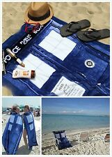 100% Cotton Beach Bath Pool Swim Towel 75cm x 150cm - Dr Doctor Who TARDIS