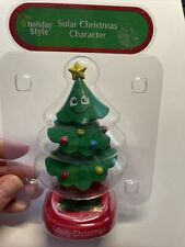 NEW Solar Powered Dancing Winter Merry Christmas Tree Ornaments Bobble Head Toy!