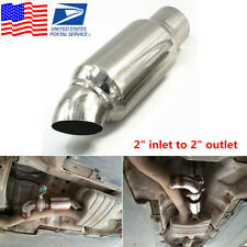 """Stainless Steel Car Exhaust Pipe Resonator Silencer Muffler 2"""" inlet to 2""""Outlet"""