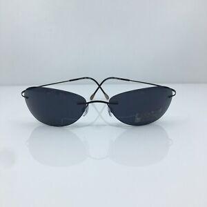 New Authentic Silhouette Titan 8067 Sunglasses M. 8067 C. 6086 Black Austria
