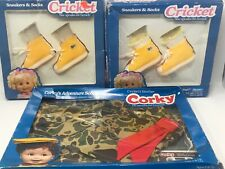 Corky Cricket Doll Lot 1 Outfit, 2 Shoes.  Cassette In Box