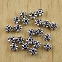300Pcs Tibetan Silver Daisy Spacer Beads h0752