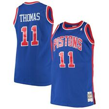 Men's Detroit Pistons Isiah Thomas Mitchell & Ness HWC Nba Camiseta Azul 1988-89