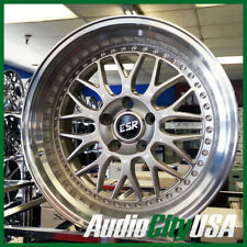 4ea 18x8.5/18x9.5 Staggered ESR Wheels SR01 Hyper Silver JDM Style Rims (S4)