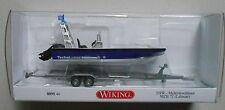 Blue Lehmar Mzb Boat Wiking 1/87 Plastic Miniature Car Ho Scale