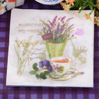 20pcs Papier rote Blume und Trauben Servietten für Hochzeit bedrucktem Papier na