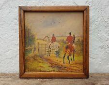 Sylvester Martin (1856-1906) Horse Hunting Scene Original Antique Watercolour