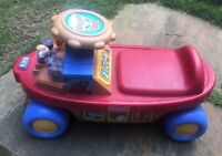 2007 Fisher Price Noah Ark Musical Sounds Little Big People Ride On Toddler Toy