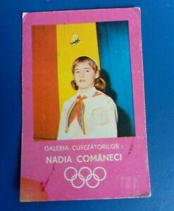 NADIA COMANECI Scout uniform 1976  pocket calendar