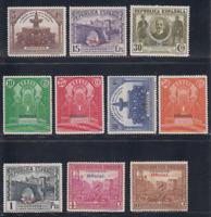 ESPAÑA (1931) SERIE NUEVA COMPLETA CON FIJASELLOS MLH -EDIFIL 620/29 LOTE1