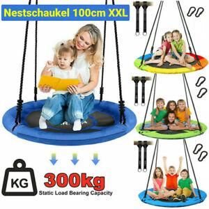 300KG Nestschaukel Tellerschaukel für Kinder & Erwachsene Rundschaukel Ø100cm DE