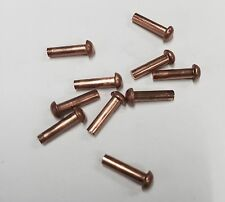 "3/32"" dia copper rivets 3/8"" Long. QTY 50 Round Head"