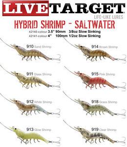 LIVE TARGET Hybrid Shrimp 90mm 3/8oz Hard Body Prawn Lure New
