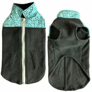 Zack & Zoey Everyday Brights Nylon & Fleece Dog Pet Vest Jacket Coat XSMALL