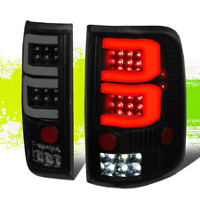 FOR 04-08 FORD F150/LOBO LEFT+RIGHT DUAL 3D LED TUBE BAR TAIL LIGHT/LAMPS TINTED