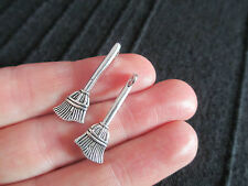 Pack of 10 Tibetan Silver Witches Broom Harry Potter Charm Pendant 27mm x 10mm