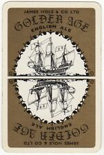 Playing Cards 1 Swap Card - Vintage JAMES HOLE Brewery GOLDEN AGE ALE Beer Ship
