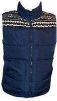 Giubbino Smanicato Giubbotto Uomo Gilet Imbottito SELECTED Jeans Blu Taglia M