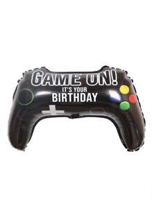 "Video Game Controller Balloon 22"" Happy Birthday  Game On Balloon Bouquet 2 Pcs"