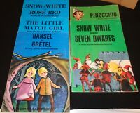 5 GIANT FAIRY STORY BOOKS HANSEL & GRETEL SNOW WHITE AND MORE  LOT OF 5