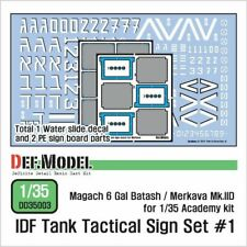 IDF Tank Tactical sign Decal set #1 (1/35 scale)