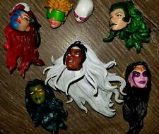 Huge Lot Of Miscellaneous Female Marvel Legends Heads - Great For Customs!