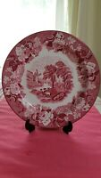 """Antique ENOCH WOOD & SONS Woods Ware ENGLISH SCENERY Plate 9""""W excellent marked"""