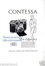 Zeiss Icon Stuttgart Reklame 1950 Contessa Eleganz Dame Werbung Foto ad  ßß