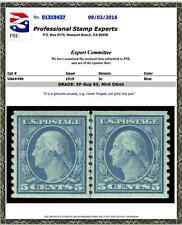 #496 Mnh Coil Line Pair Pse Graded 95, Pse Certificate # 01319437